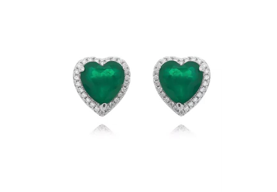Semi joias fusion brinco coração