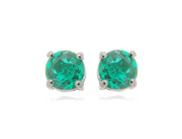 Semi joias fusion brinco esmeralda