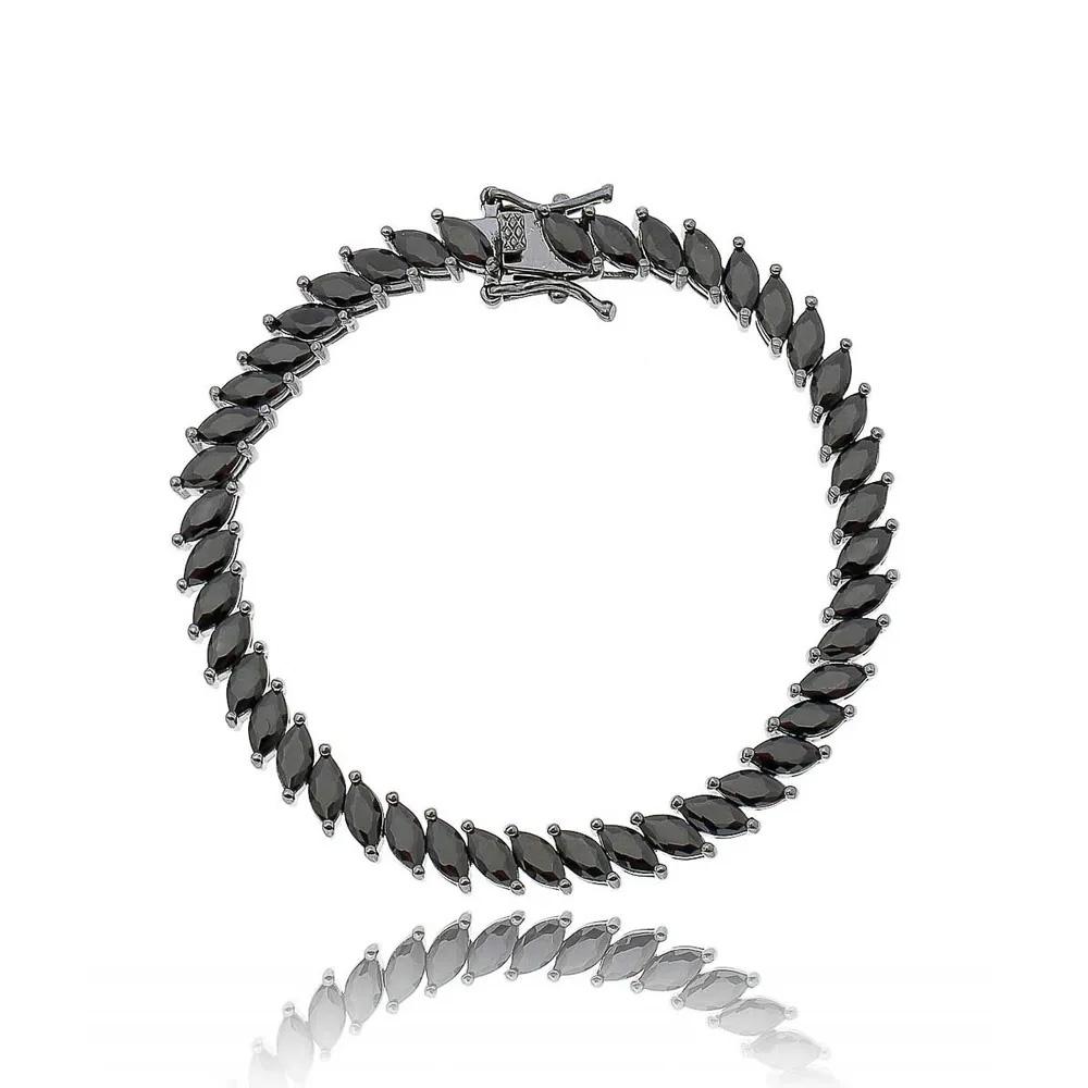 Semi joias luxuosas pulseira navetesSemi joias luxuosas pulseira navetes