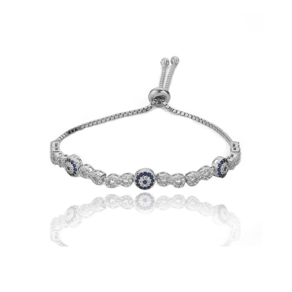Semi joias luxuosas pulseira olho grego