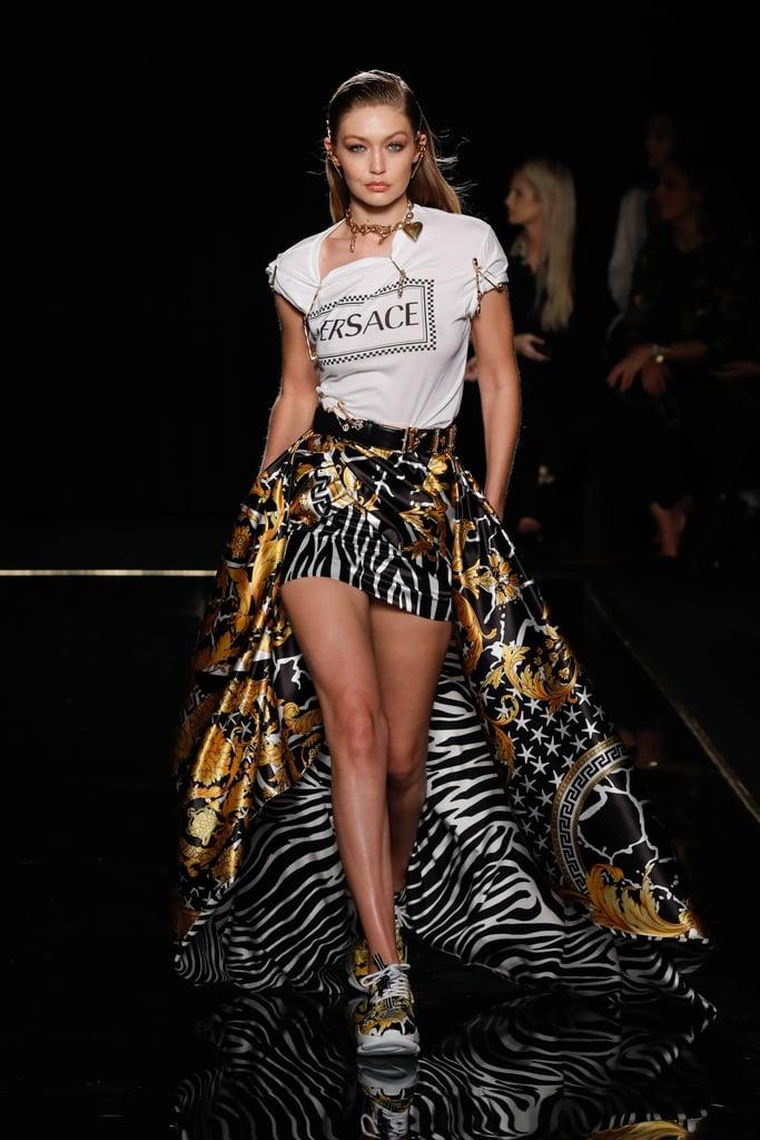 Acessorios Versace Gigi Hadid Passarela