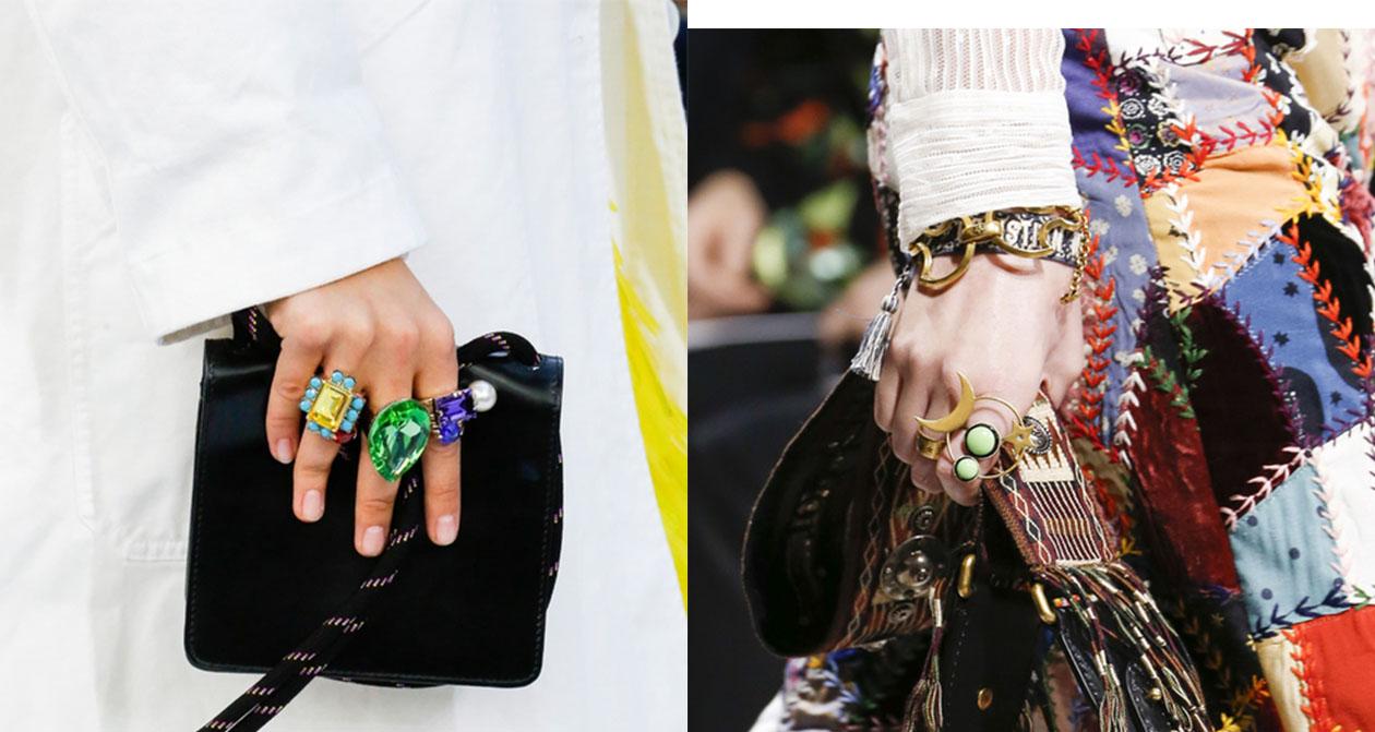 Anéis da moda 2019
