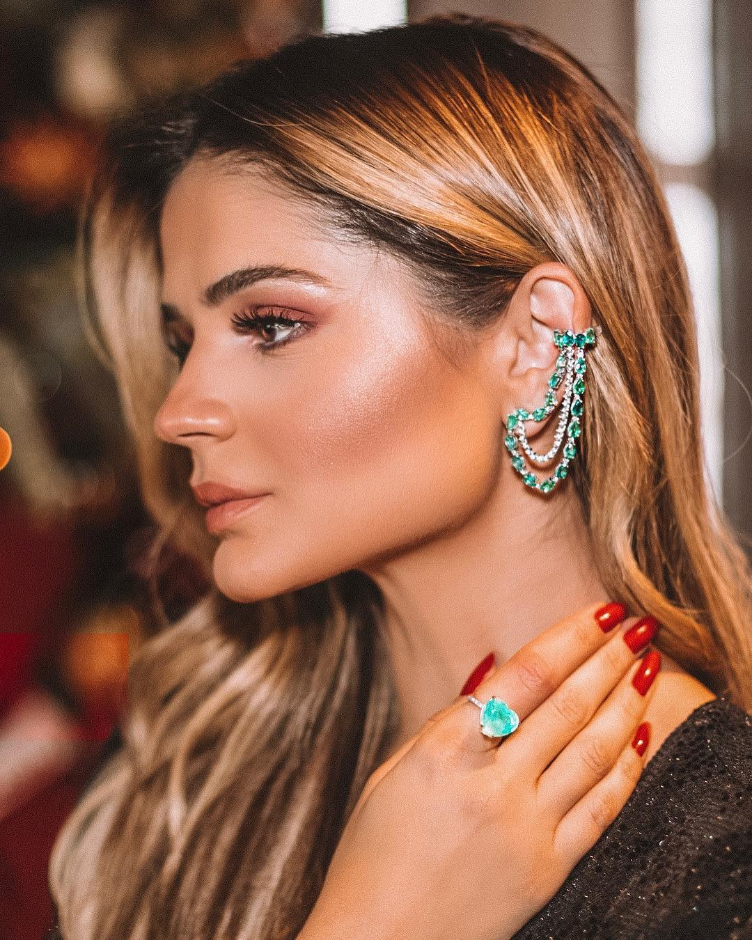brinco ear cuff de corrente