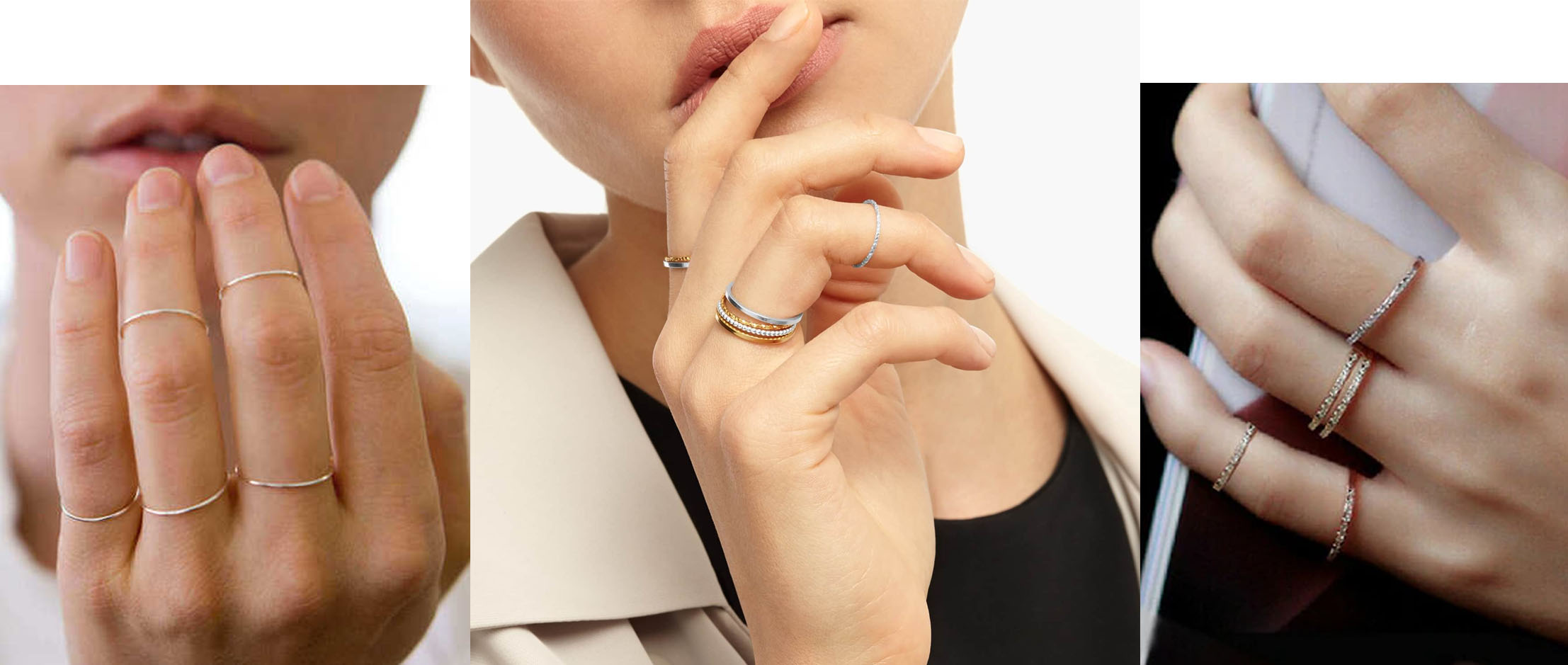 Como combinar anéis de falange