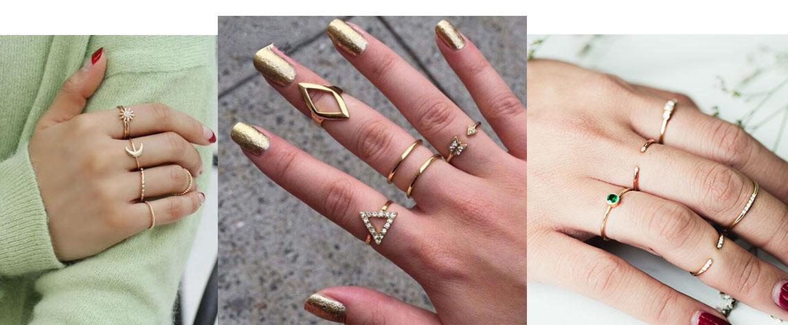 como combinar anéis dourados