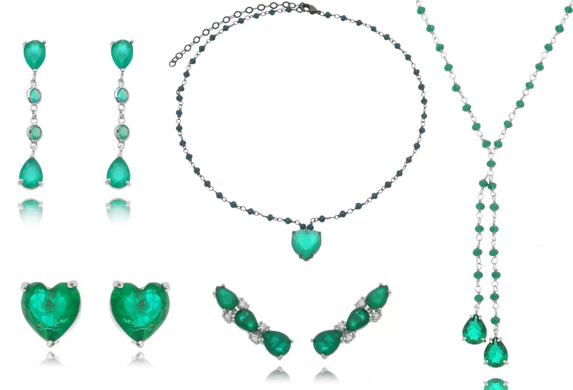 Cores de Semi joias esmeralda