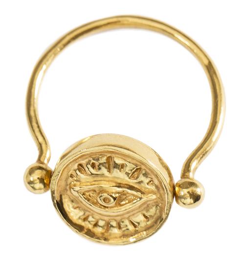 joias egipcias anel olho grego