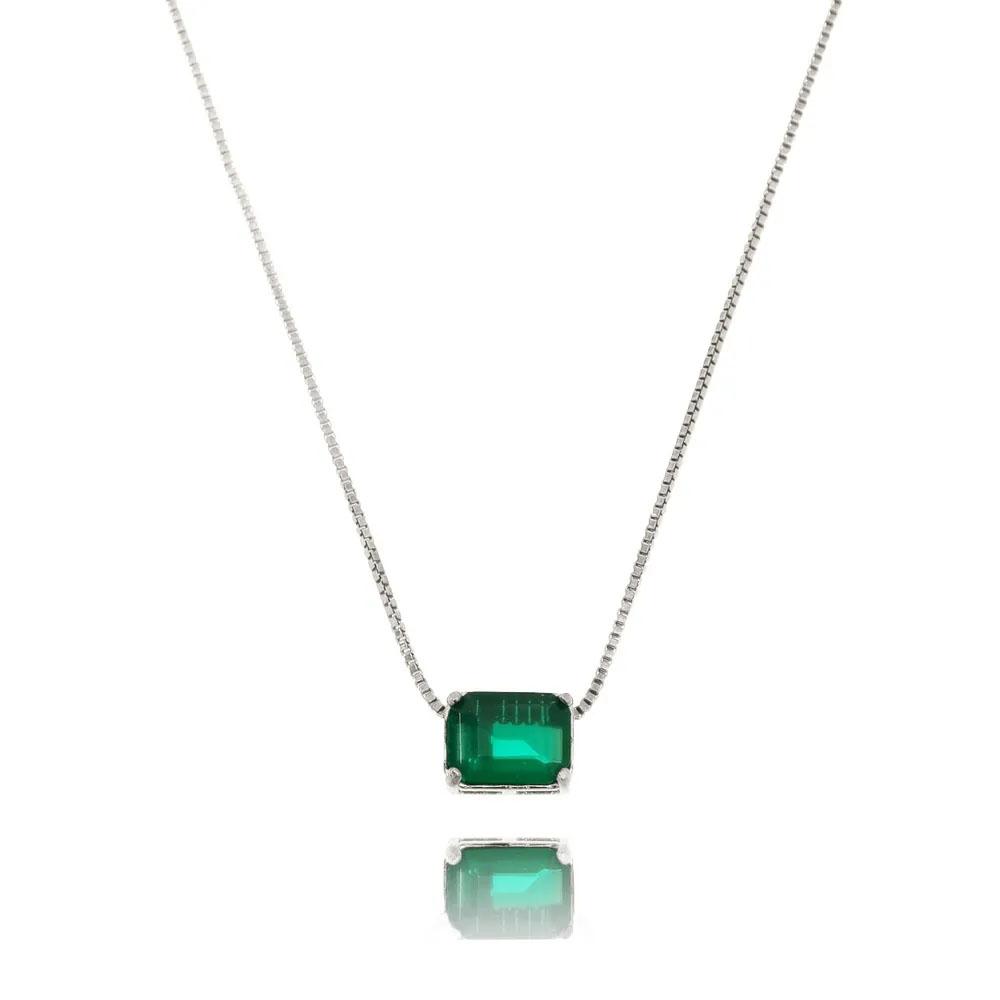 presentes amigo secreto colar esmeralda