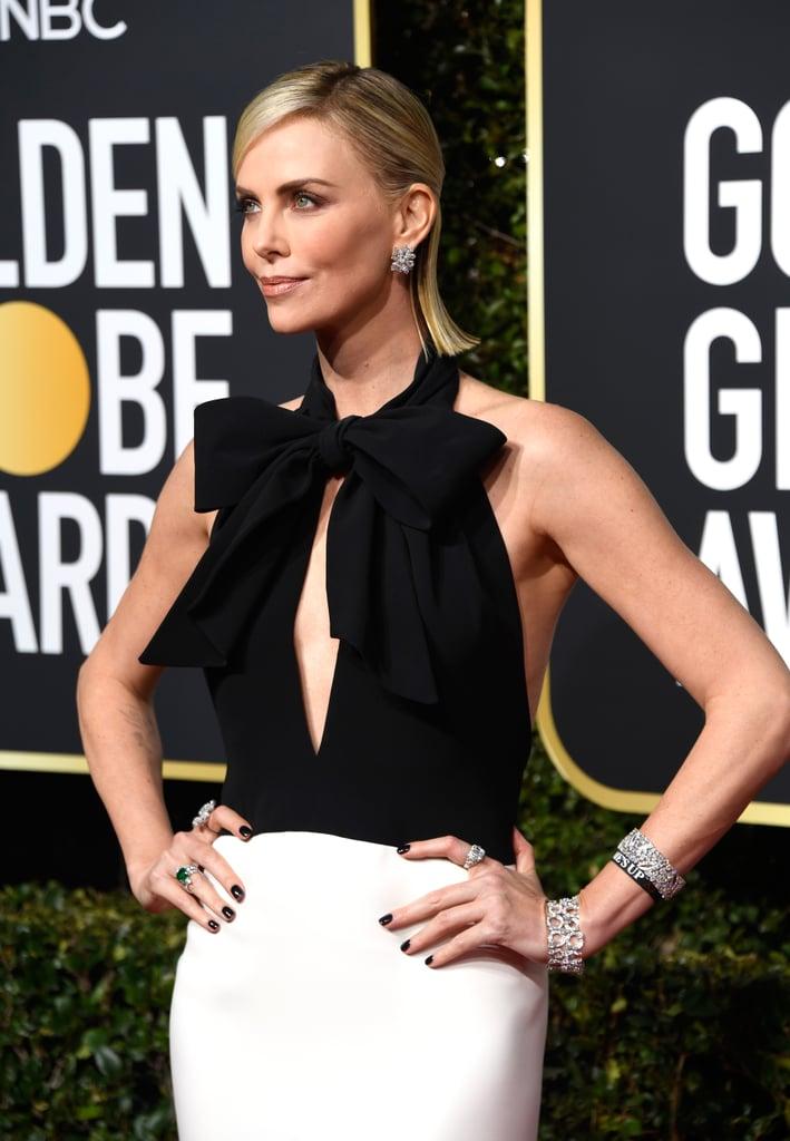 Globo de Ouro 2019 Charlize Theron Joias