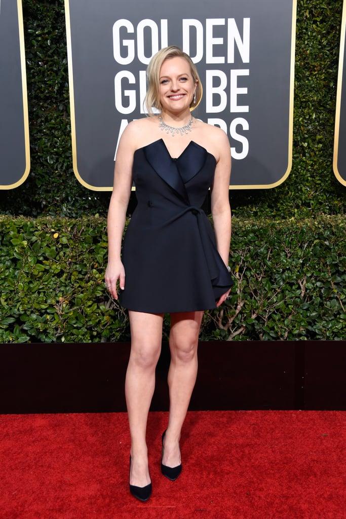 Globo de Ouro 2019 Elizabeth Moss Joias
