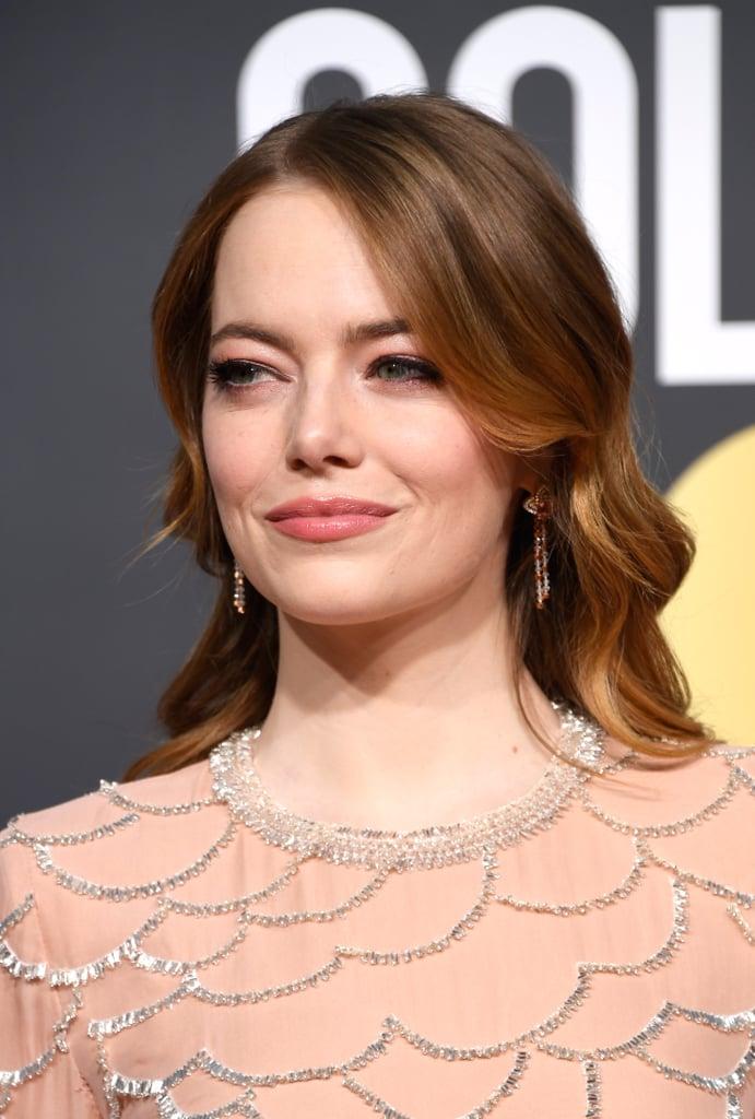 Globo de Ouro 2019 Emma Stone beleza