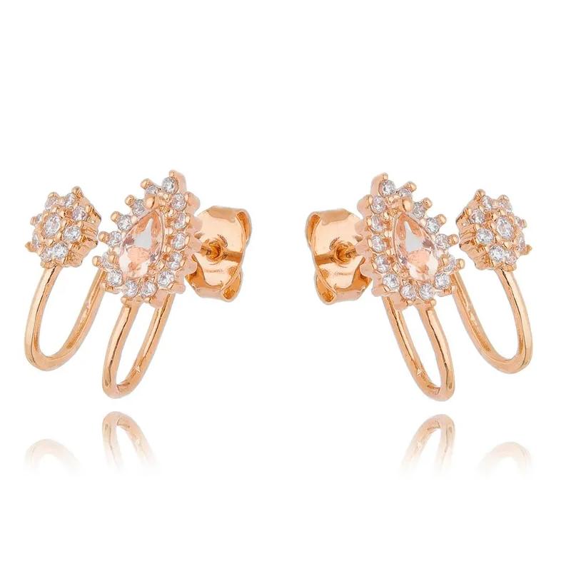 brincos em ouro rose ear cuff