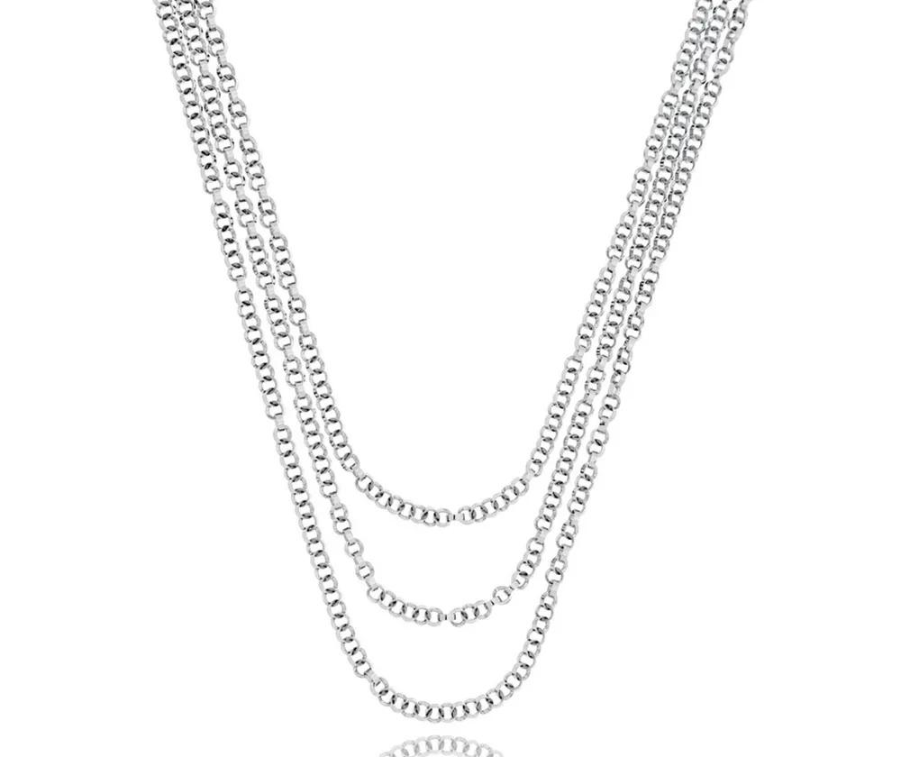 colar de prata correntaria