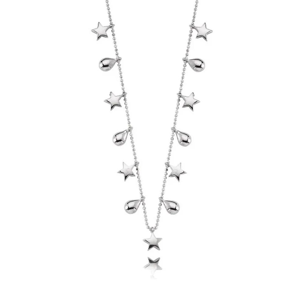 colar de prata estelinhas