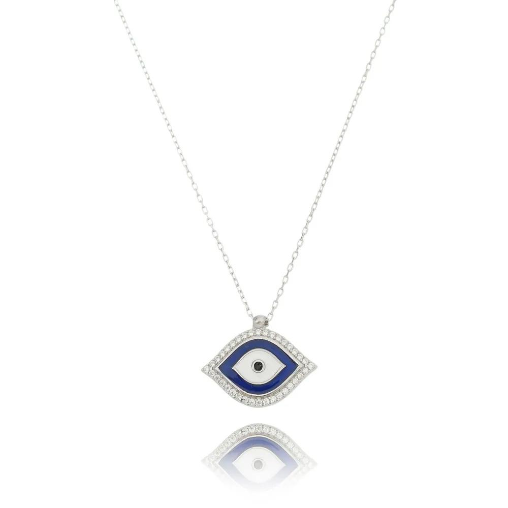 colar de prata olho grego