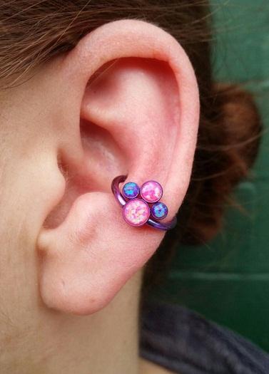 conch piercing argola rosa