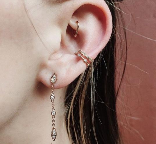 conch piercing delicados