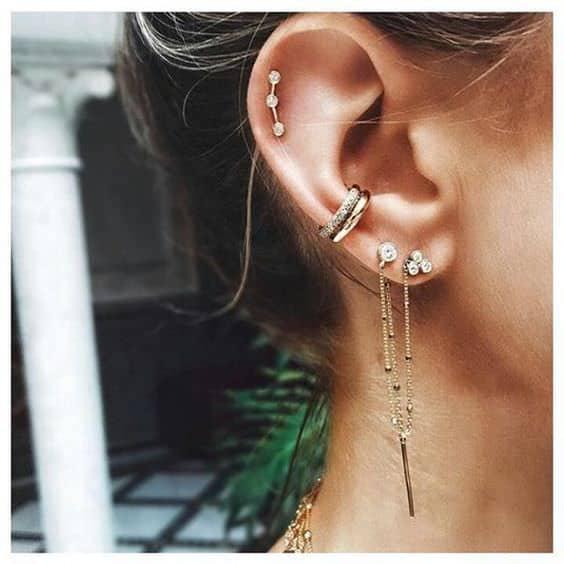 conch piercing duplo
