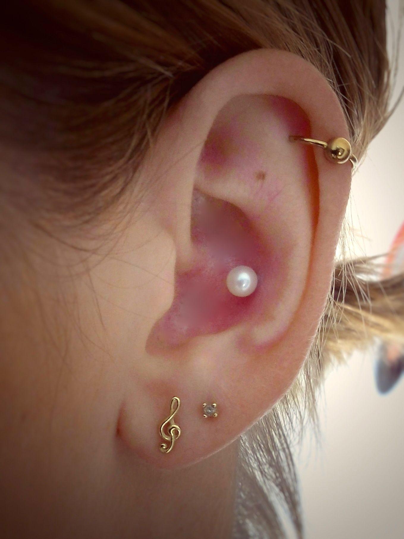 conch piercing perolas