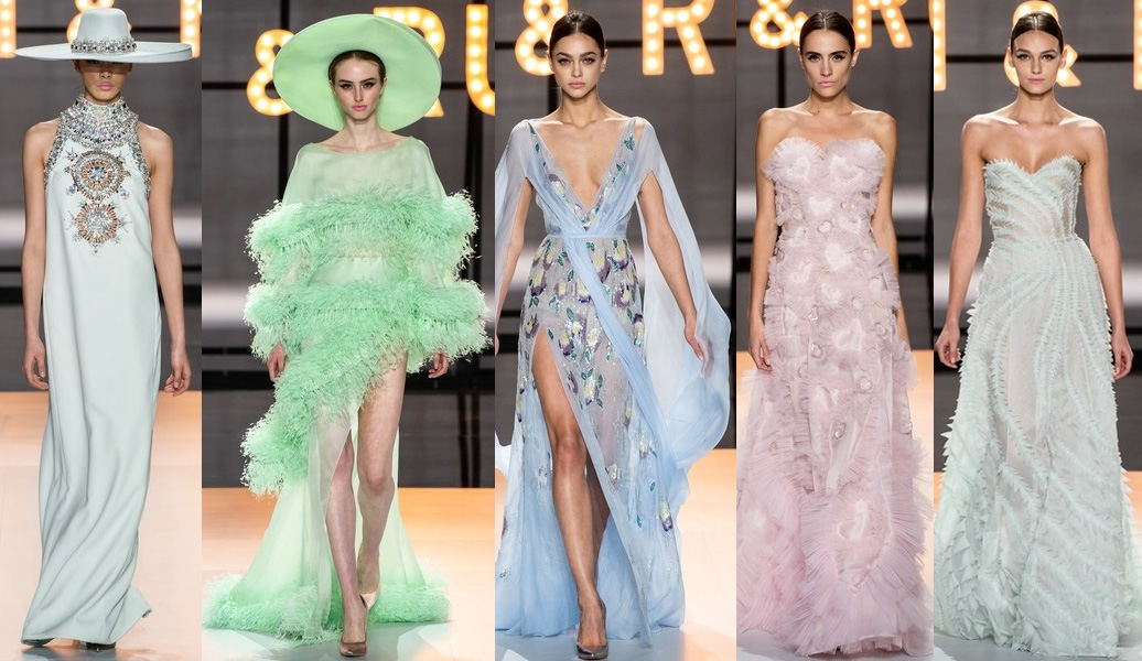 paris fashion week 2019 ralph russo candy colors