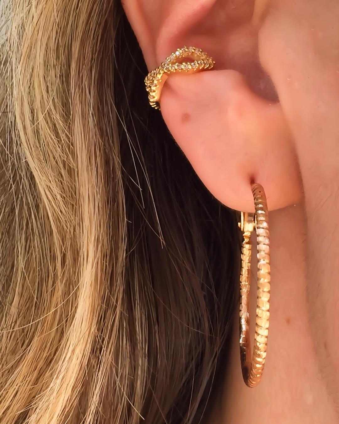 piercing conch dourado