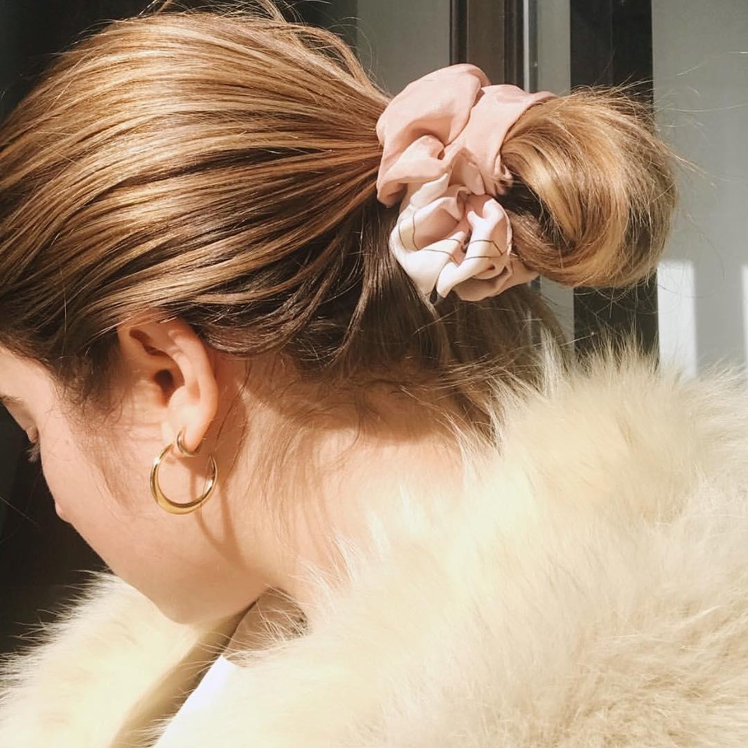scrunchie elastico para cabelo