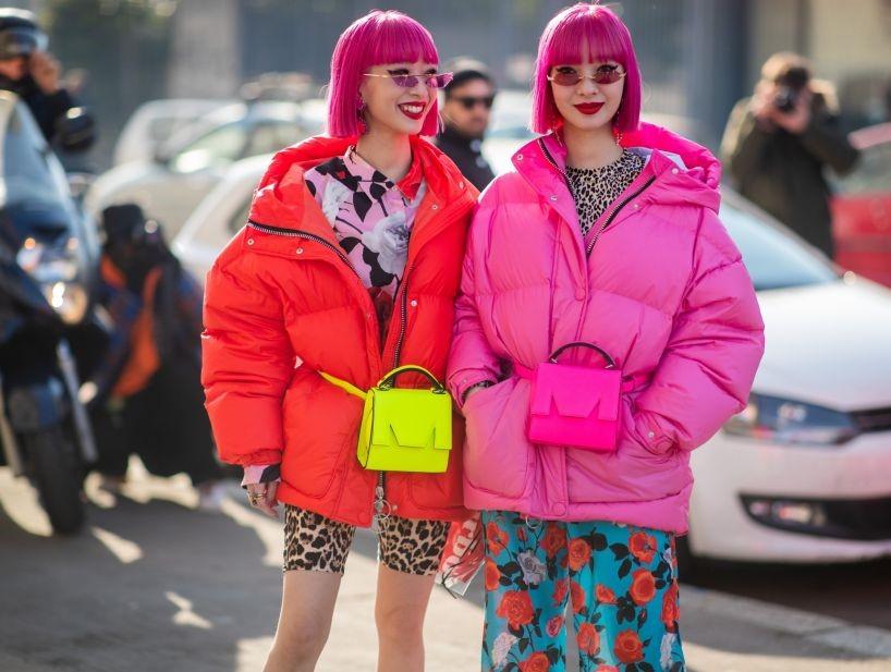 tendencias das semanas de moda neon