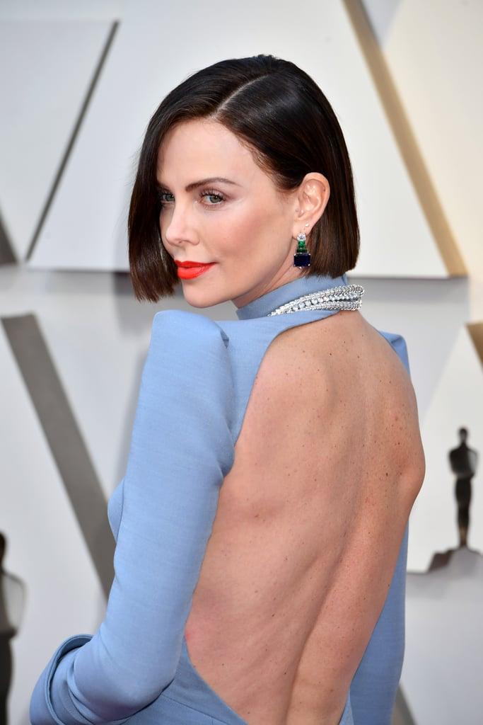 Charlize Theron Looks do Oscar 2019 Brincos