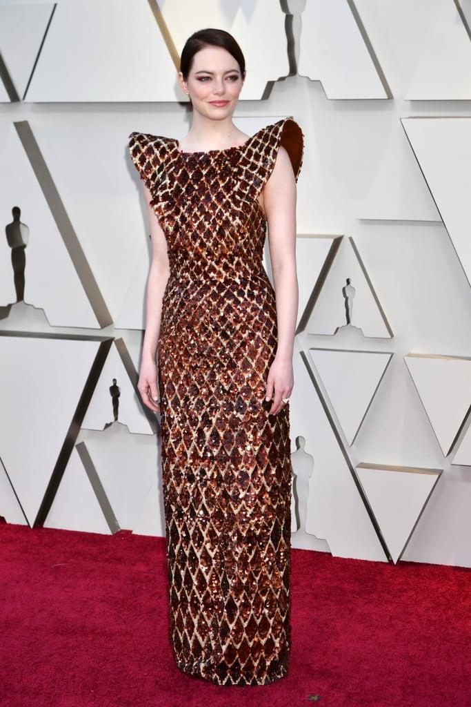 Emma Stone Looks do Oscar 2019 Vestido