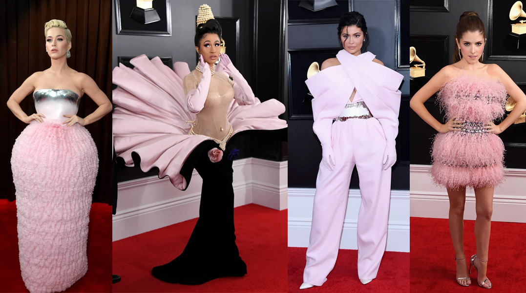 Famosas no grammy 2019 candy colors