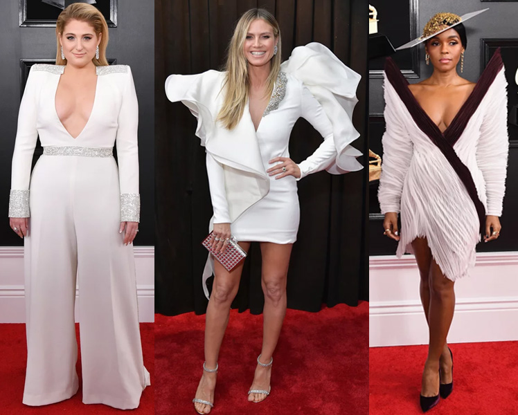 Famosas no grammy 2019 looks brancos