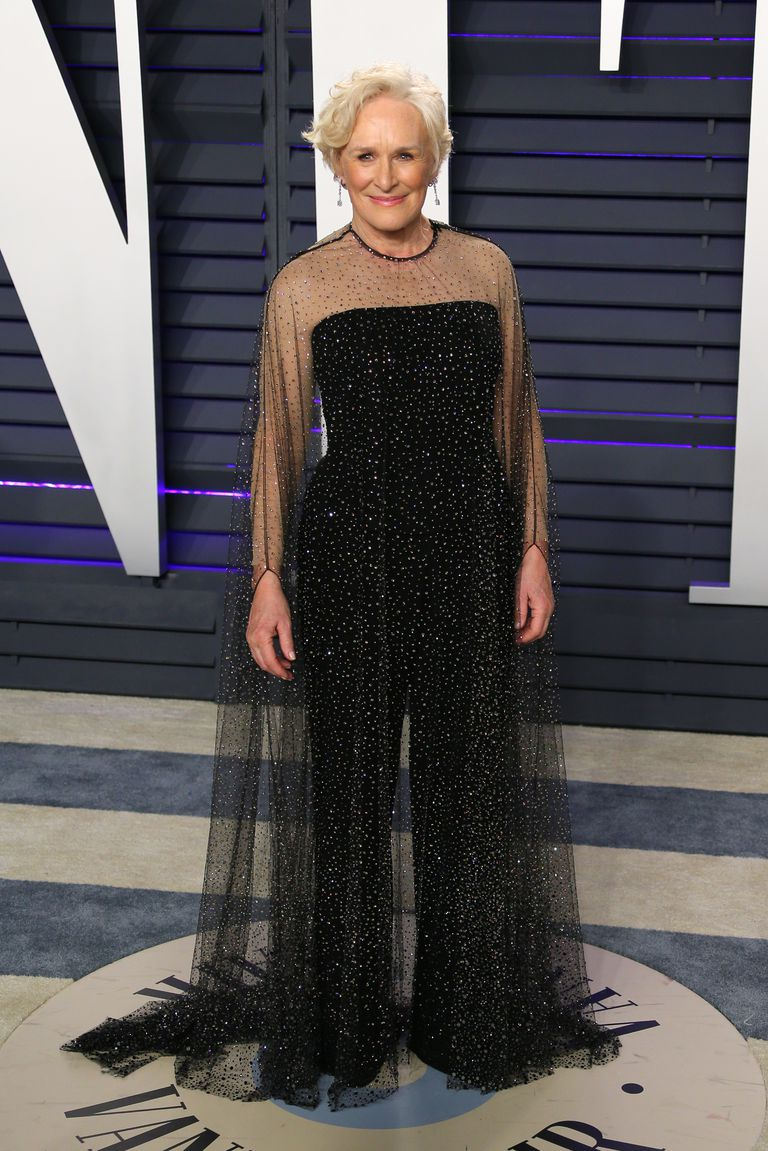 Oscar 2019 afterparty glenn close look