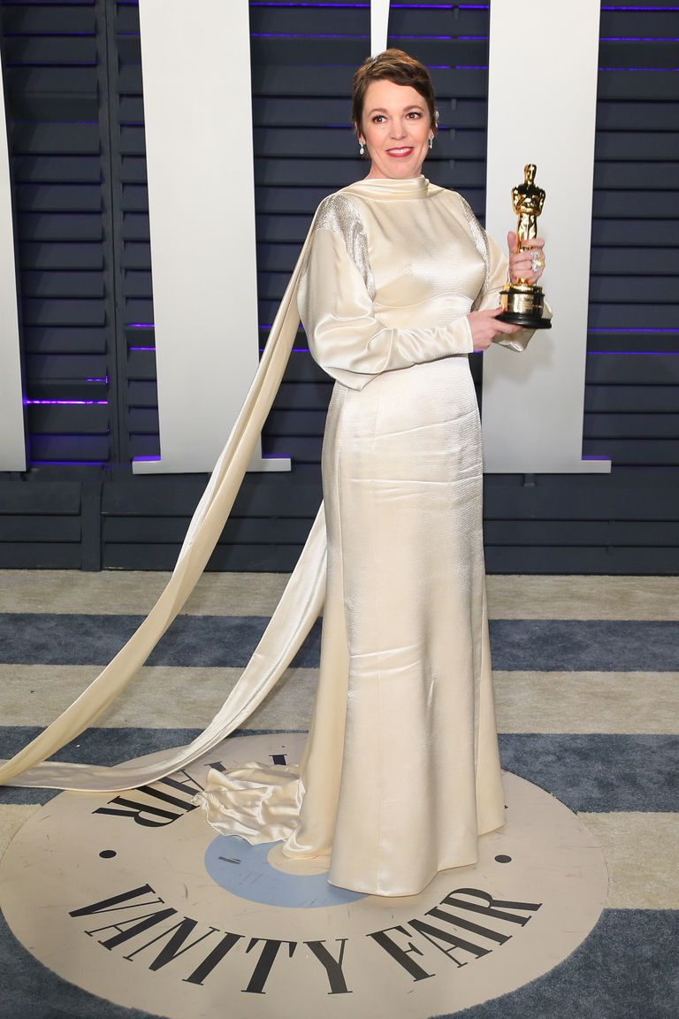 Oscar 2019 afterparty olivia coleman