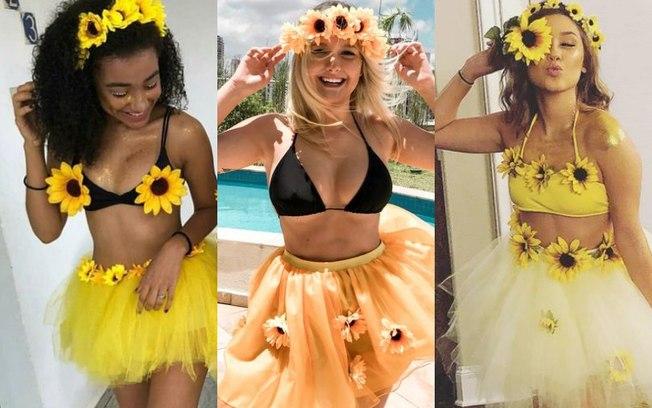 carnaval 2019 fantasia de girassol