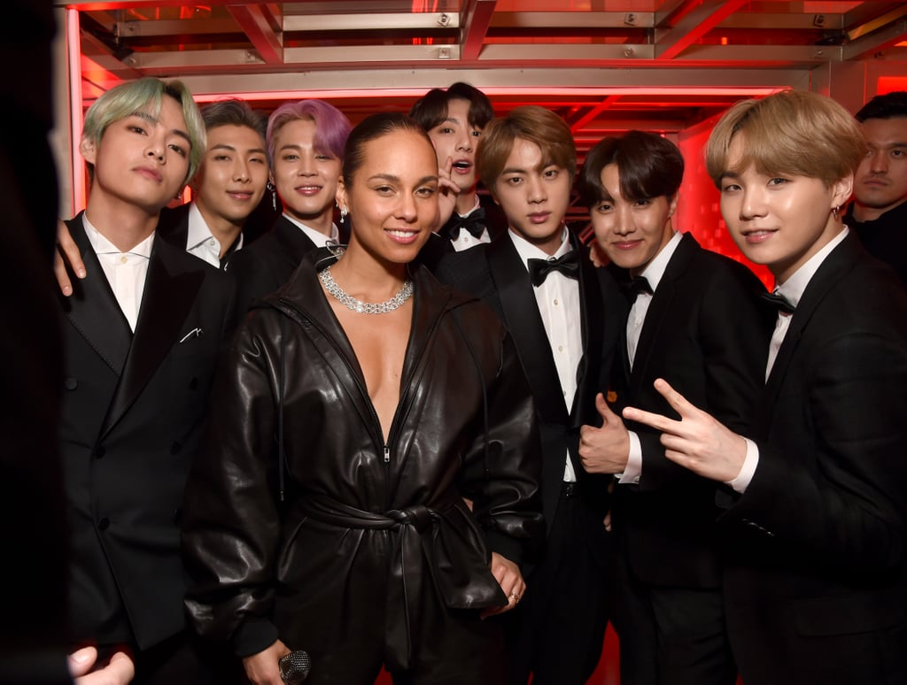 famosas no grammy awards 2019 alicia keys bts