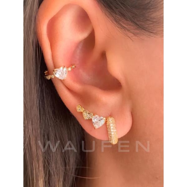mini ear cuff coracao