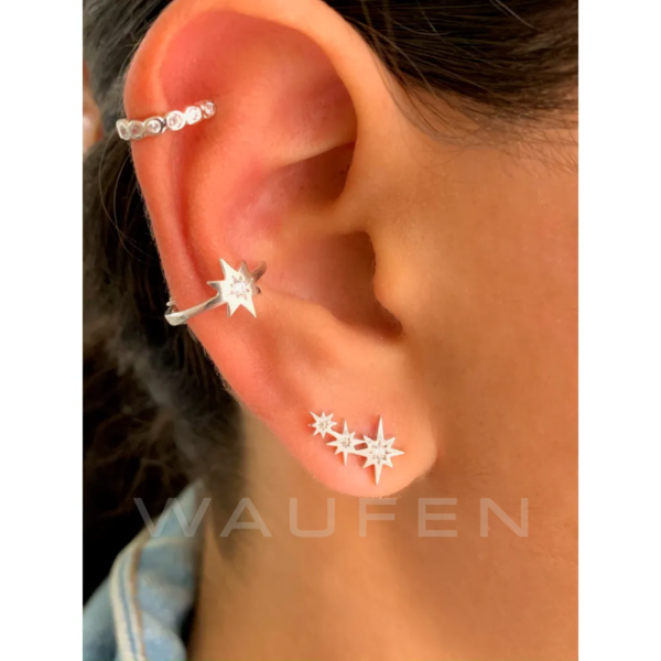 mini ear cuff estrelinha