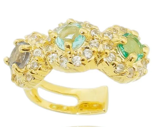 piercings coloridos dourado