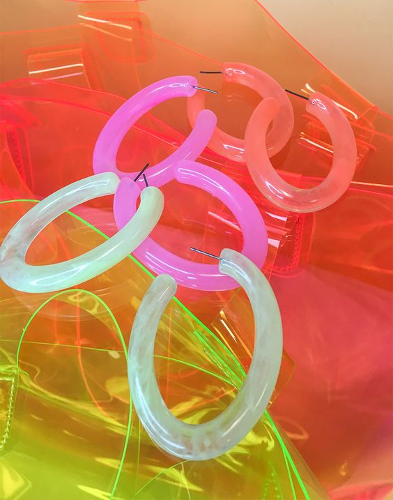 brincos neon 2019 coloridos