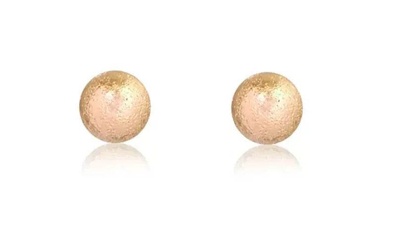 brincos pequenos de ouro  bolinha
