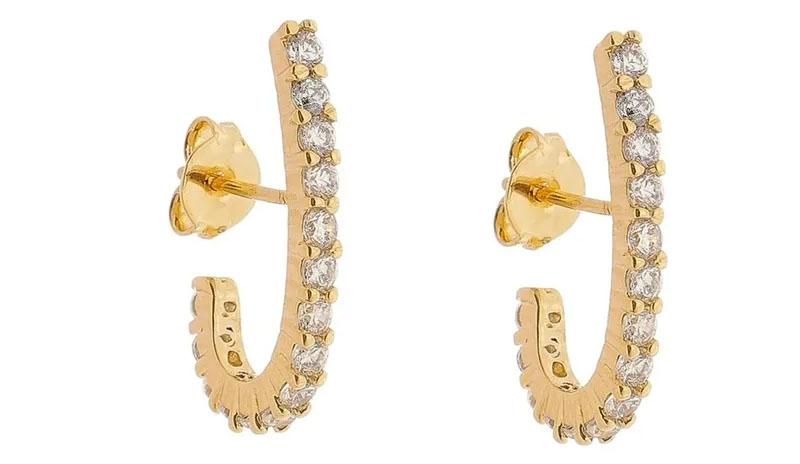 brincos pequenos de ouro ear hook