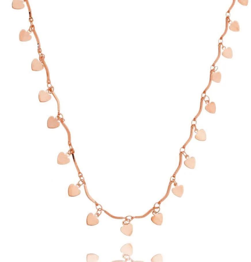colares em ouro rose curto