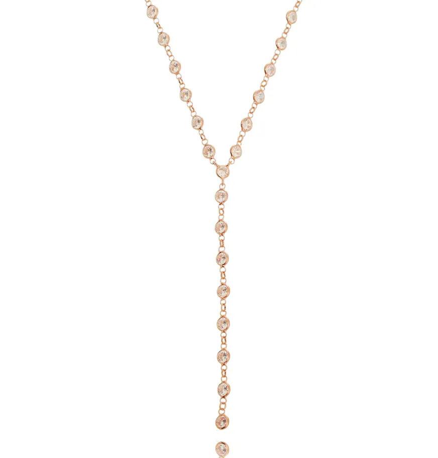colares em ouro rose gravatinha
