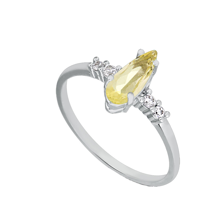 joias com pedras amarelas anel gota