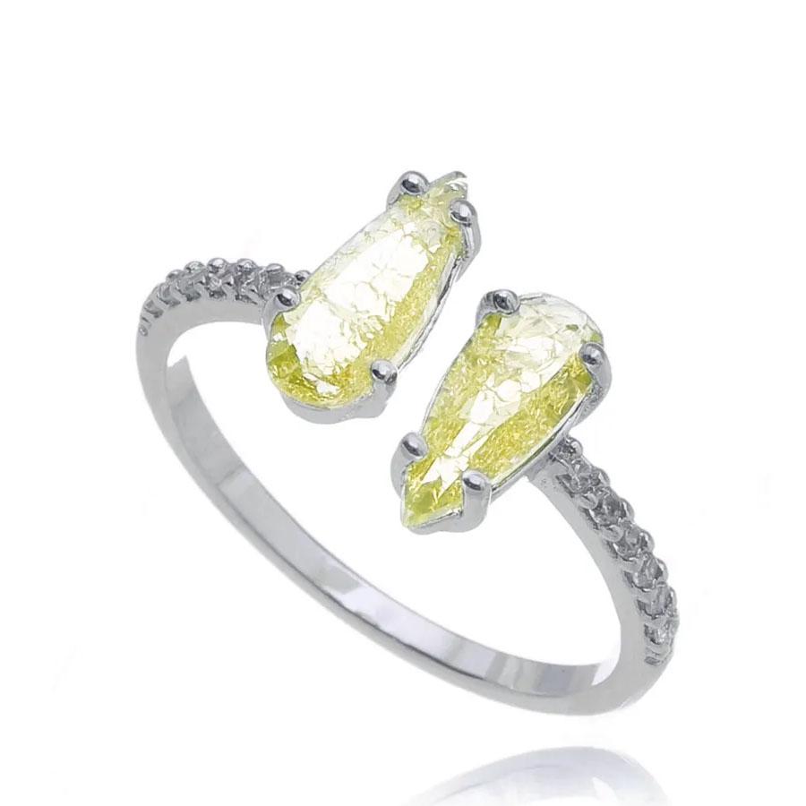 joias com pedras amarelas duplo