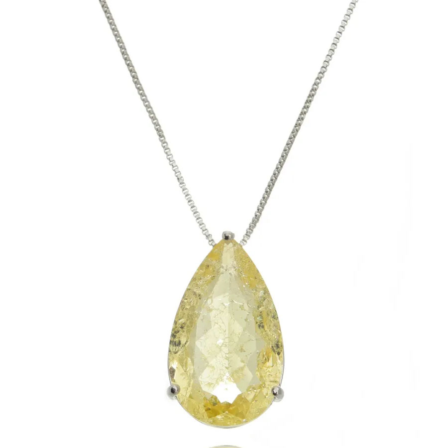 joias com pedras amarelas gota grande