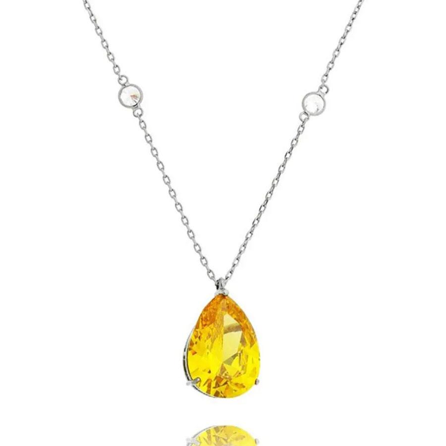 joias com pedras amarelas intenso