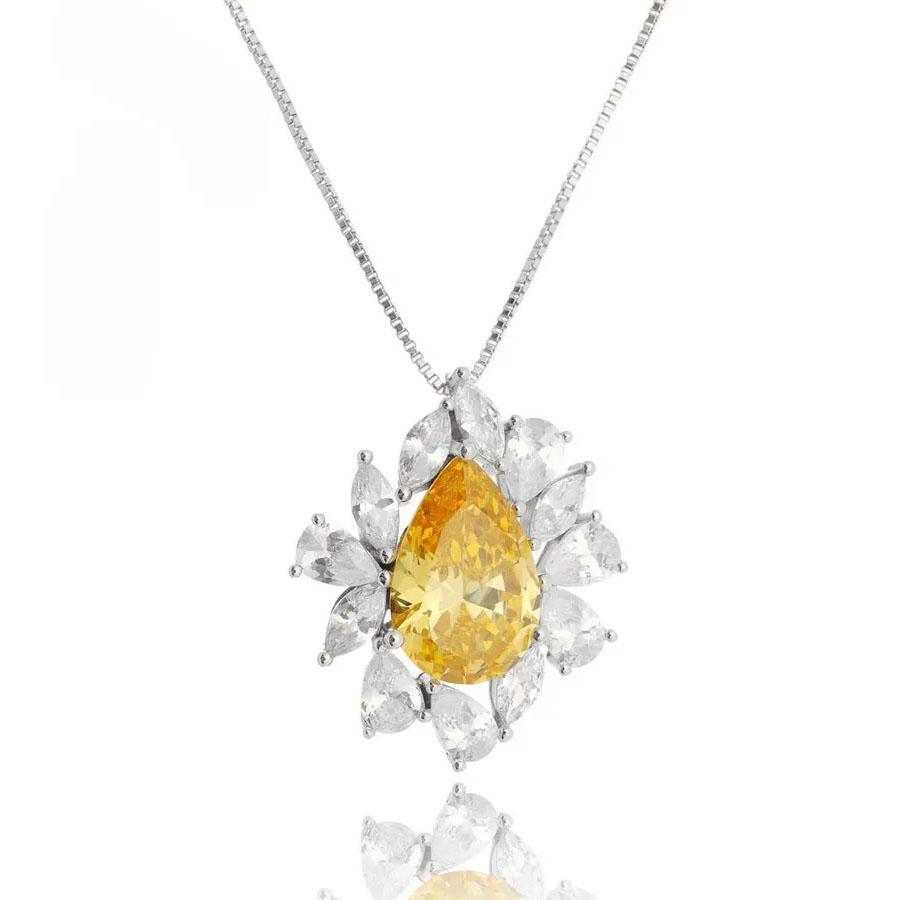 joias com pedras amarelas luxo