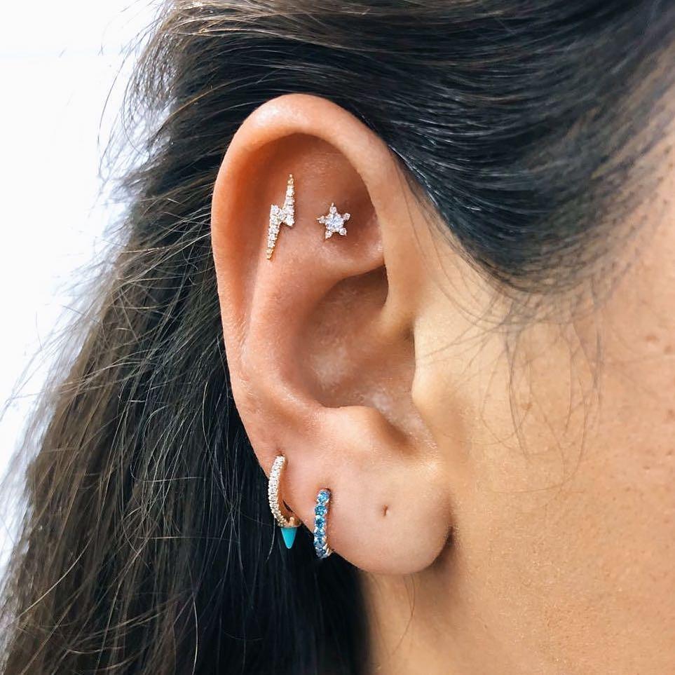 piercings multiplos criativos