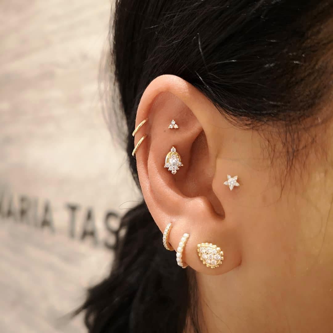 piercings multiplos gotinha